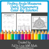 Finding Missing Angle Measures Using Trigonometry Color-By-Number!