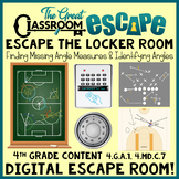 Finding Missing Angles 4th Grade Math Digital Escape Room - Distance Learning!