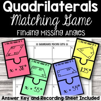 Finding Missing Angles in Quadrilaterals