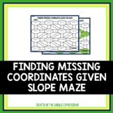 Finding Missing Coordinates Given Slope Maze Activity