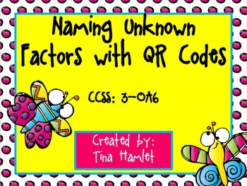 Finding Missing Factors with QR Codes  3-OA6