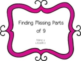 Finding Missing Parts of 9 - First Grade enVision Math