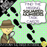 Finding Missing Squared Numbers Task Cards now with Boom Cards