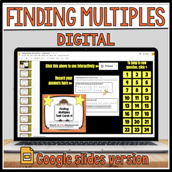 Finding Multiples Task Card Set #1 with Coded Answer Document
