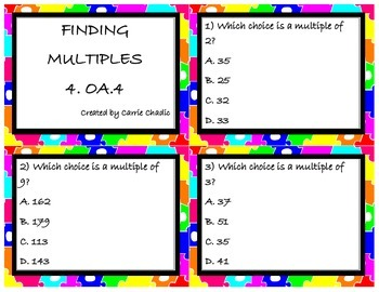 Finding Multiples 4.OA.4