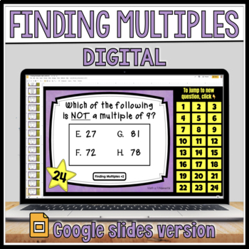 Finding Multiples Task Card Set #2 with Coded Answer Document