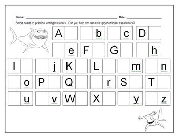 Finding Nemo:  Alphabet Letters
