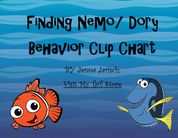 Finding Nemo/ Dory Behavior Clip Chart