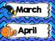 Finding Nemo/Dory Calendar Set {Bright Blue Waves}