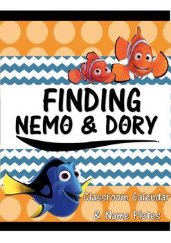 Finding Nemo & Dory Calendar and Name Plates