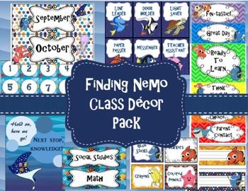 Finding Nemo/ Dory Classroom Decor Pack