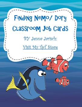 Finding Nemo/ Dory Classroom Job Cards