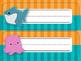 Finding Nemo/Dory Desk Nameplates {Bright Waves & Stripes} EDITABLE