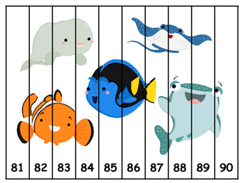 Finding Nemo/Dory Number Sequence Puzzles
