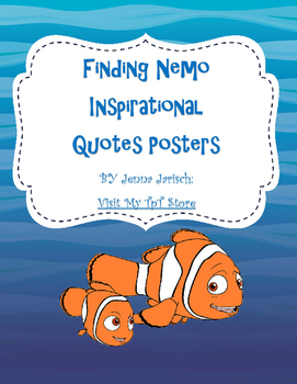 Finding Nemo Inspirational Quotes Posters