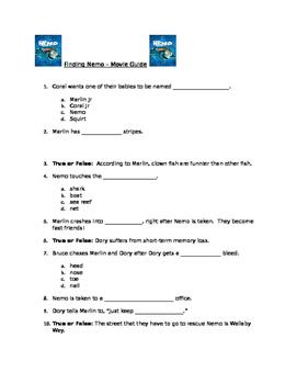 Finding Nemo Movie Guide