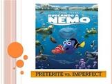 Finding Nemo Part 1 - Spanish - preterite versus imperfect verbs