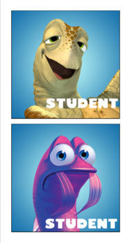 Finding Nemo Student Tags