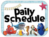Finding Nemo/Dory Theme Daily Schedule