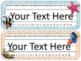 Finding Nemo/Dory Themed Desk Tags and Name Plates {EDITABLE}