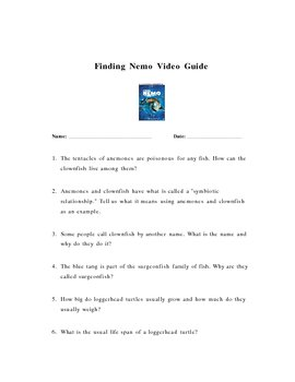 Finding Nemo Video Guide