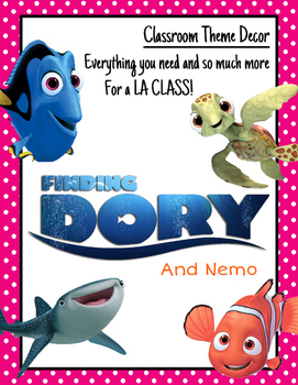 Finding Nemo and Dory: Classroom Decor: Language Arts Only