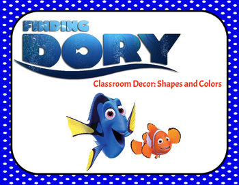 Finding Nemo and Dory! Shape and Colors Classroom Decor