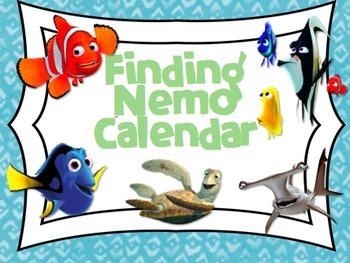 Finding Nemo/Dory inspired Calendar Set