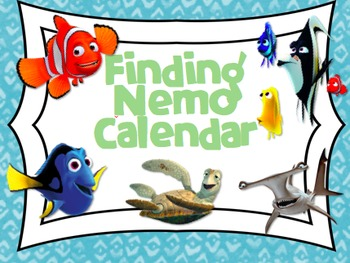 Finding Nemo/Dory inspired Calendar Set