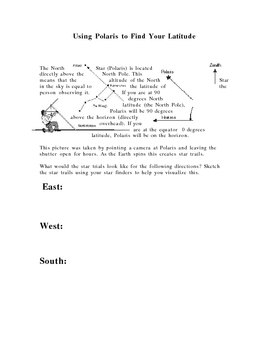 Finding North Star Polaris Earth Science Star Trail Notes