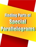 Finding Parts of Special Parallelograms