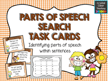 Finding Parts of Speech in Sentences Task Cards