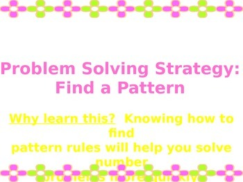 Finding Patterns in Numbers