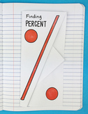 Doodle Notes - Finding Percent Foldable by Math Doodles