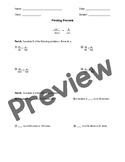 Finding Percent Menu Worksheet