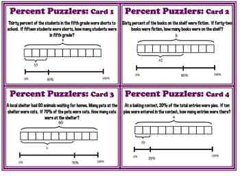 Finding percent tape diagram bar model common core 6rp3 task cards finding percent tape diagram bar model common core 6rp3 task cards plus ccuart Choice Image