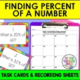 Finding Percent of a Number Task Cards