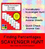 Finding Percentages Scavenger Hunt