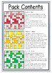 Math: Finding Percentages of Numbers Crosswords - 3 Levels of Difficulty