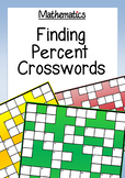 Math: Finding Percentages of Numbers Crosswords - 3 Levels