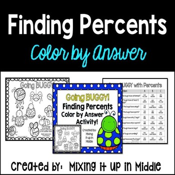 Finding Percents-An Introduction Color by Answer