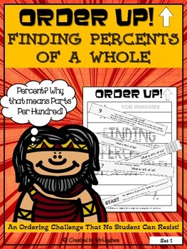 Finding Percents of a Whole - Order Up! Set 1