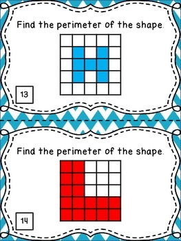 Finding Perimeter - 20 Task Cards for Practice and Math Centers