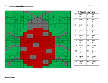 Finding Perimeter - Differentiated Coloring Activity - Lady Bug