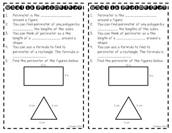 Finding Perimeter FREEBIE Common Core Standard: 3.MD.D.8