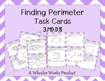 Finding Perimeter Task Cards - 3.MD.D.8