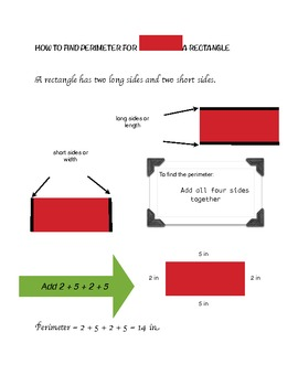 Finding Perimeter of a Square and Rectangle