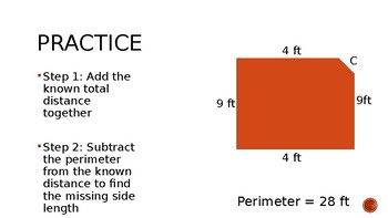Finding Perimeter with an unknown side length