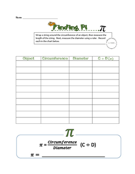 Finding Pi Activity Page