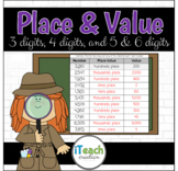 Finding Place Value and Value of 3,4,5 & 6 digit numbers